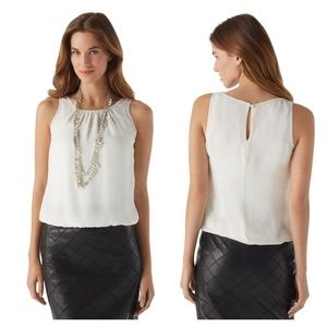 WHBM Necklaced Silk Top
